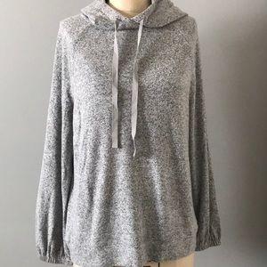 LOFT Gray hooded sweatshirt M